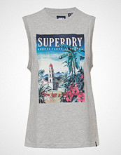 Superdry Sun Island Tank T-shirts & Tops Sleeveless Hvit SUPERDRY