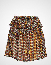 Scotch & Soda Printed Skirt With Ruffles Kort Skjørt Gul SCOTCH & SODA