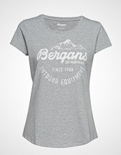 Bergans Classic W Tee T-shirts & Tops Short-sleeved Grå BERGANS