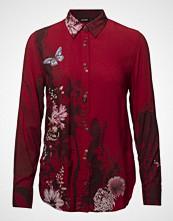Desigual Cam Fragancy Langermet Skjorte Rød DESIGUAL