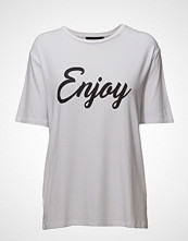 Soft Rebels Enjoy T-Shirt T-shirts & Tops Short-sleeved Hvit SOFT REBELS