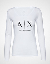 Armani Exchange Ax Woman T-Shirt T-shirts & Tops Long-sleeved Hvit Armani Exchange