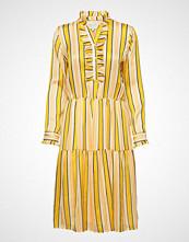 Lollys Laundry Haley Dress Knelang Kjole Gul LOLLYS LAUNDRY