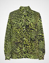 Ganni Print Denim Shirt Jacket Bluse Langermet Grønn GANNI