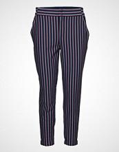 FREE/QUENT Nanni-Ankle-Pa-Stripe2 Bukser Med Rette Ben Blå FREE/QUENT