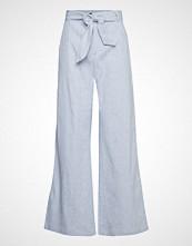 Banana Republic High Rise Wide Leg Tie Waist Linen Mini Stripe Vide Bukser Blå BANANA REPUBLIC