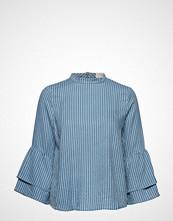 Pieszak Bali Flair Sleeve Top Bluse Langermet Blå PIESZAK