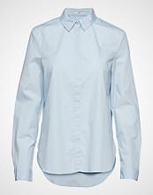 Edc by Esprit Blouses Woven Langermet Skjorte Blå EDC BY ESPRIT