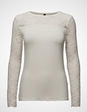 Pulz Jeans Trisse L/S T-Shirt T-shirts & Tops Long-sleeved Hvit PULZ JEANS