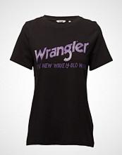 Wrangler Old Wave Tee T-shirts & Tops Short-sleeved Svart WRANGLER