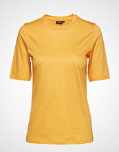 J.Lindeberg Charlotte Feathery Cotton T-shirts & Tops Short-sleeved Gul J. LINDEBERG