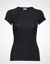 Filippa K Fine Rib Tee T-shirts & Tops Short-sleeved Svart FILIPPA K
