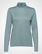 Filippa K Tencel Polo Neck Top T-shirts & Tops Long-sleeved Blå FILIPPA K