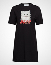 MSGM Glitter Print Cat T-Shirt T-shirts & Tops Short-sleeved Svart MSGM