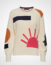 Scotch & Soda Chunky Cotton Mix Pull With Special Details Strikket Genser Creme SCOTCH & SODA