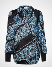 Second Female Break Ls Shirt Bluse Langermet Blå SECOND FEMALE