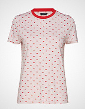 Scotch & Soda Allover Printed Short Sleeve Tee In Soft Quality T-shirts & Tops Short-sleeved Rosa SCOTCH & SODA