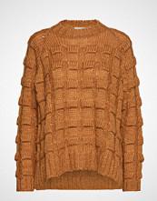 Rabens Saloner Croc Knit Boxy Sweater Strikket Genser Brun RABENS SAL R