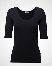 Filippa K Cotton Stretch Scoop Neck Top T-shirts & Tops Short-sleeved Blå FILIPPA K