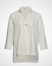 Violeta by Mango Butt D Stripped Shirt Langermet Skjorte Creme VIOLETA BY MANGO