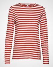 Dagmar Stripie T-shirts & Tops Long-sleeved Rød DAGMAR