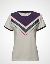 Wrangler Regular Tee Shirt T-shirts & Tops Short-sleeved Creme WRANGLER