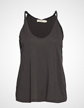 Rabens Saloner Twisted Jersey Tank T-shirts & Tops Sleeveless Svart RABENS SAL R