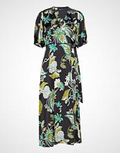 Gina Tricot Dita Wrap Dress Knelang Kjole Grønn GINA TRICOT