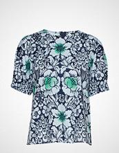 Marimekko Polveileva Juhannus Shirt Bluse Kortermet Blå MARIMEKKO