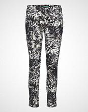 Please Jeans Chino Filetto White Flower Slim Jeans Svart PLEASE JEANS