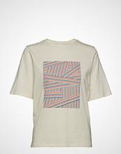 Boss Casual Wear Teorganic T-shirts & Tops Short-sleeved Creme BOSS CASUAL WEAR