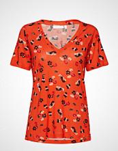 InWear Rosita V-Neck T-Shirt T-shirts & Tops Short-sleeved Oransje INWEAR