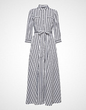 Banana Republic Ls Maxi Shirtdress Stripe Maxikjole Festkjole Hvit BANANA REPUBLIC