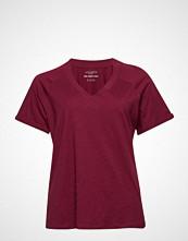 Violeta by Mango Organic Cotton T-Shirt T-shirts & Tops Short-sleeved Rød VIOLETA BY MANGO