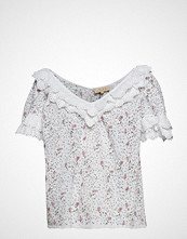 by Ti Mo Broderie Anglaise Top Bluse Kortermet Hvit BY TI MO