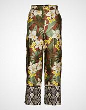Mango Printed Straight Trousers Vide Bukser Multi/mønstret MANGO