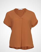 Violeta by Mango Wrap V-Neckline T-Shirt T-shirts & Tops Short-sleeved Oransje VIOLETA BY MANGO