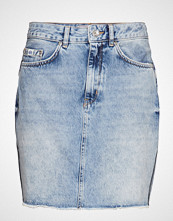 Superdry Denim Mini Skirt Kort Skjørt Blå SUPERDRY