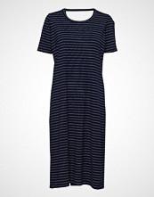 Whyred Fonda Dress Stripe Knelang Kjole Blå WHYRED