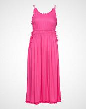 Scotch & Soda Viscose Summer Midi Dress With Straps Knelang Kjole Rosa SCOTCH & SODA