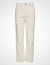Gina Tricot Gabby Corduroy Trousers Bukser Med Rette Ben Creme GINA TRICOT