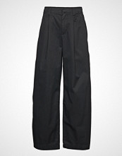 GAP Hi-Rise Pleated Wide Leg Jpn Vide Bukser Svart GAP