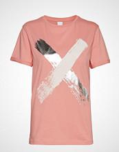 Boss Casual Wear Tepaint T-shirts & Tops Short-sleeved Rosa BOSS CASUAL WEAR