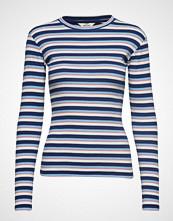 Mads Nørgaard 2x2 Soft Stripe Tuba T-shirts & Tops Long-sleeved Blå MADS NØRGAARD
