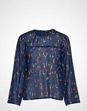 Marimekko Maltti Kaski Shirt Bluse Langermet Blå MARIMEKKO