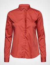 Mos Mosh Tilda Frill Shirt Langermet Skjorte Rød MOS MOSH
