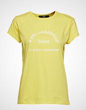 Karl Lagerfeld Rue Lagerfeld T-Shirt T-shirts & Tops Short-sleeved Gul KARL LAGERFELD