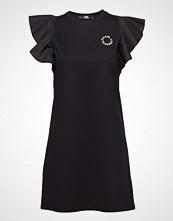 Karl Lagerfeld Ruffle Sleeve T-Shirt Dress Kort Kjole Svart KARL LAGERFELD