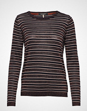 Scotch & Soda Knitted Crew Neck In Stripes With Lurex T-shirts & Tops Long-sleeved Multi/mønstret SCOTCH & SODA