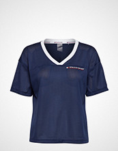 Tommy Sport Mesh T-Shirt V Neck T-shirts & Tops Short-sleeved Blå TOMMY SPORT
